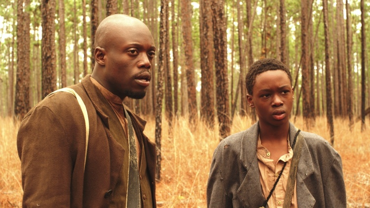 Keston John as Uncle Marcus and Ashton Sanders as Will in THE RETRIEVAL.